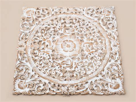 buy lotus wood carving plaque decor