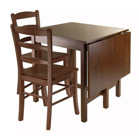 2 Chair Table Dining Sets Winsome Lynden 3 Dining Table With 2 Ladder Back Chairs Table Chair Sets