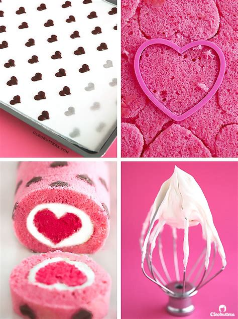 heart patterned roll cake quot love is all around quot cake roll cleobuttera