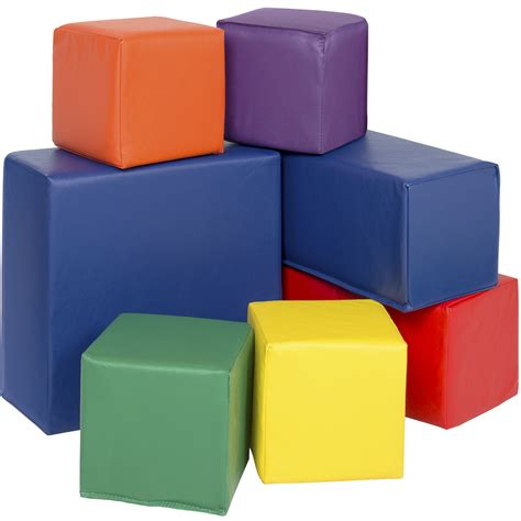 upholstery foam block bcp 7pc soft big foam blocks play set sensory gross motor