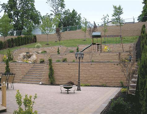 Diy Backyard Landscape Design by Terraced Backyard Hill