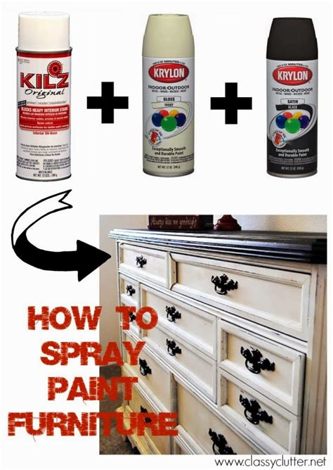 spray paint bedroom furniture how to spray clear coat without orange peel