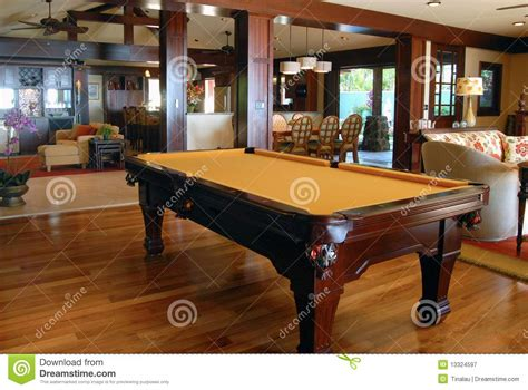 Table In Living Room Pool Table In The Living Room Royalty Free Stock