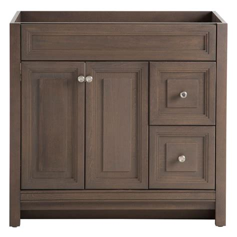 bathroom cabinet home depot home decorators collection brinkhill 36 in w bath vanity
