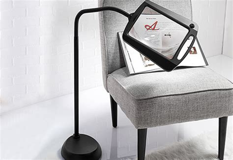 full page magnifier with light full page floor magnifying l sharper image