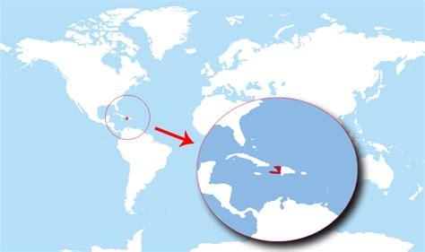haiti on world map where is haiti located on the world map