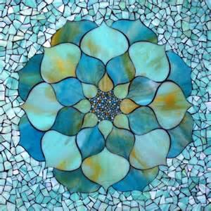 Turquoise Lotus Flower Kasia Mosaics Turquoise Lotus Flower