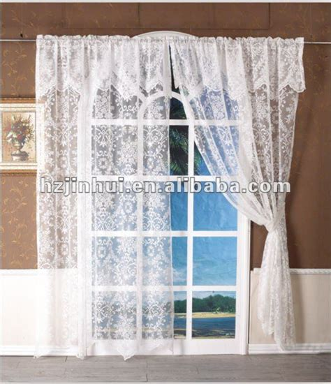 lace kitchen curtain lace curtain with valance country