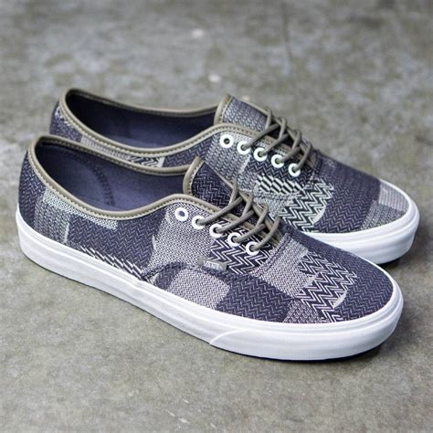 vans authentic denim patchwork navy true white