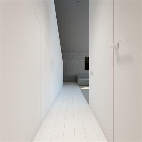 White Corridor 3 light white and minimalist homes inspiring clarity of