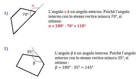 angoli interni di un pentagono problemi sui poligoni
