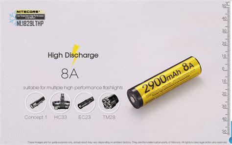 Nitecore 18650 Baterai Li Ion Low Temperature 2900mah 3 6v Nl1829ltp Nitecore 18650 Baterai Li Ion Low Temperature High Performance 2900mah 3 6v Nl1829lthp Black
