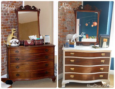 Dresser Redo Before And After two toned dresser makeover home stories a to z