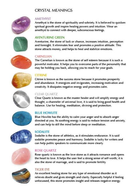 17 best ideas about gemstones meanings on