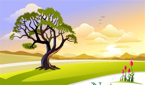 Home Design Application Download by Free Vector Cartoon Nature Background 03 Titanui