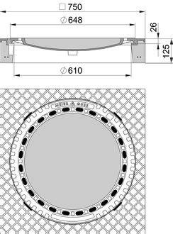 schachtabdeckungen zum auspflastern meierguss beton guss schachtabdeckung 102050 quadratisch