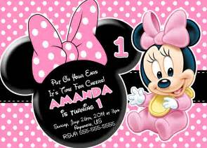 minnie mouse templates minnie mouse 1st birthday invitations eysachsephoto