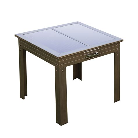 solar powered table l savana solar powered patio table bronze nature power
