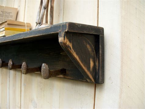 regal rustikal cottage chic shelf rustic shelving by honeystreasures