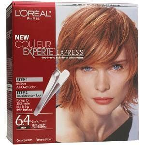 loreal ginger twist highlight placements my color l oreal easy color light golden copper brown