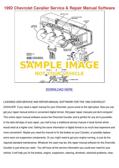 download car manuals pdf free 1993 chevrolet sportvan g20 security system 1992 chevrolet cavalier service repair manual by royrash issuu