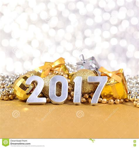 décoration tendance 2017 silver 2017 new year date numerals background stock image