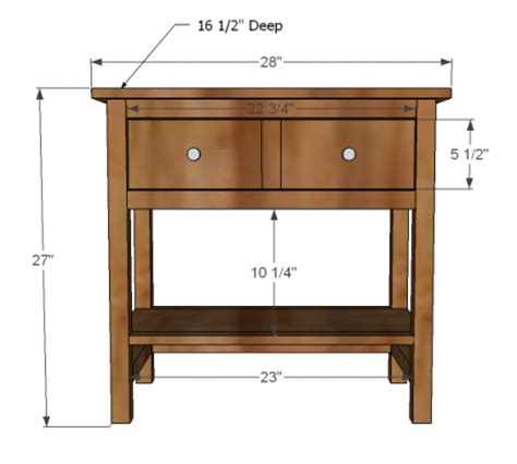 1 drawer nightstand plans ana white build a farmhouse bedside table free and