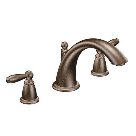 moen t933orb brantford deck mount tub faucet trim in