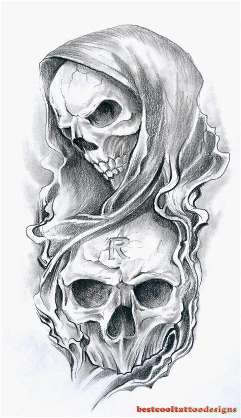 skull tattoo designs flash best cool tattoo designs