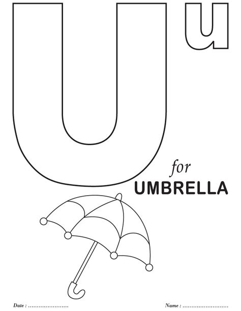 coloring pages of letter u free coloring pages of letter u worksheet