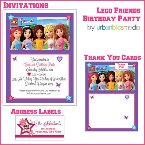 friendship card template free printable bliss lego friends birthday bliss