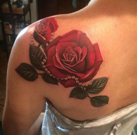 real looking rose tattoo collection of 25 the realistic