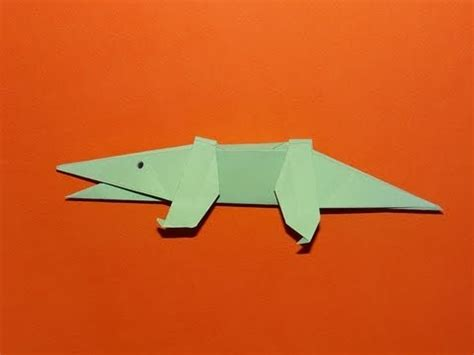 Origami Alligator - how to make an origami alligator