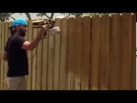 spraying  privacy fence  water sealer youtube