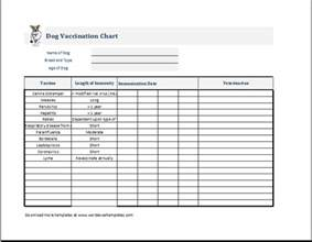 immunization record template puppy vaccination chart template ms excel word