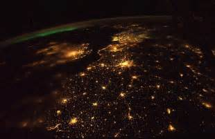 world lights earth at from space station me