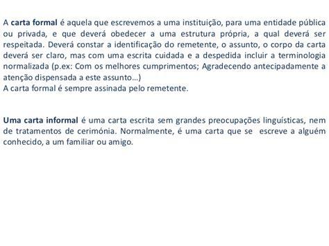 carta formal e informal carta formal e informal