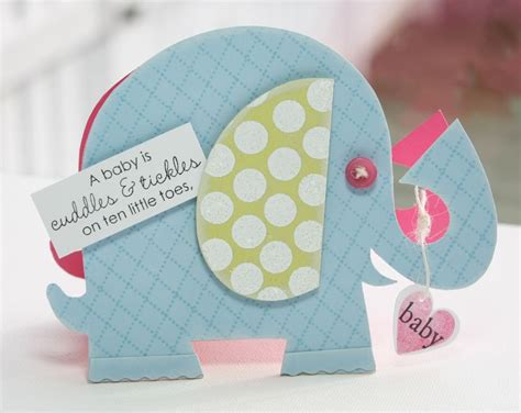 elephant card template inside out baby poppy paperie