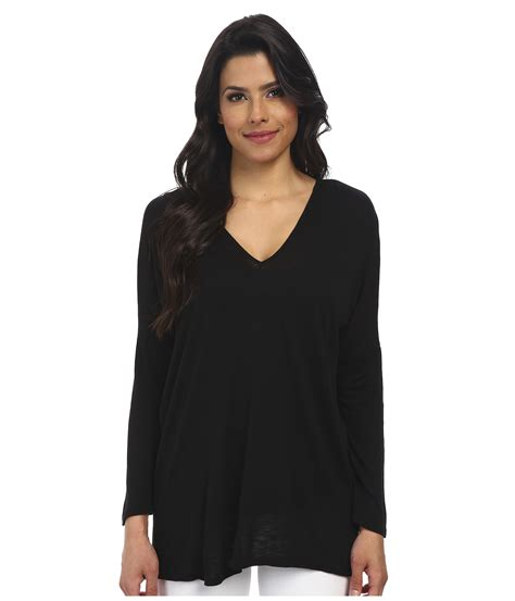 velvet v neck top velvet by graham spencer vasena sleeve v neck top