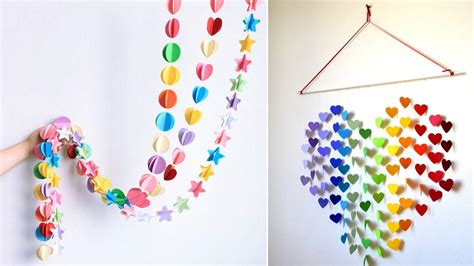 Hanging Paper Craft - 20 diy easy wall hanging craft ideas tutorials k4 craft
