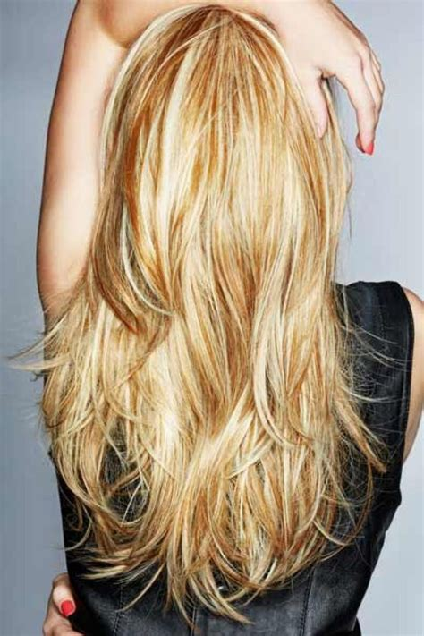 show back of layered hairstyles straight layered hair back view long hair with layers
