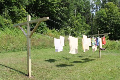 and home how to make an outside clothes line