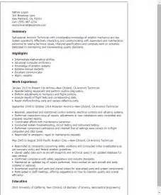 Avionics Manager Sle Resume professional avionics technician templates to showcase your talent myperfectresume