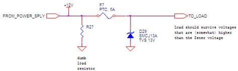 zener diode as fuse power supply voltage fuse or better electrical engineering stack exchange