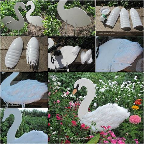 Recycled Garden Accessories How To Diy Swan Garden Decor From Plastic Bottles