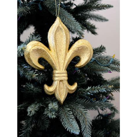 10 quot gold glitter fleur de lis ornament mz166808