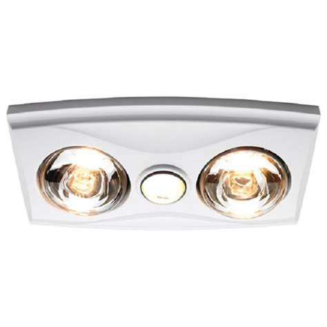 Heat Lights For Bathrooms Heller White Led 3 In 1 Bathroom Heater Bunnings Warehouse