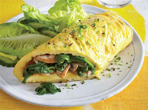 egg recipes for dinner mushroom and spinach omelet easy egg recipes for dinner