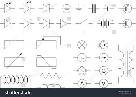 electronic symbols stock vector 106917158