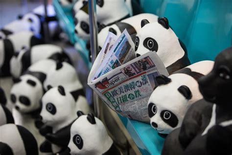 How To Make A Paper Mache Panda - in asia 1 600 papier m 226 ch 233 pandas bring pandemonium wsj